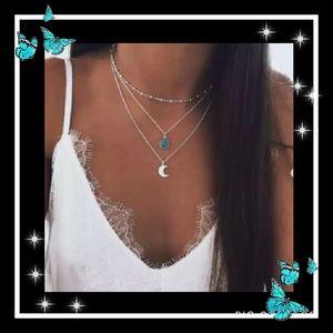 Jewelry - Beautiful bohemian turquoise moon necklace